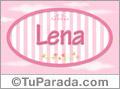 Nombre Lena de bebé, para imprimir