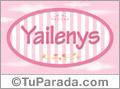 Yailenys, nombre de bebé de niña