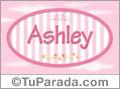 Nombre Ashley de bebé, para imprimir
