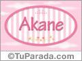 Akane, nombre de bebé de niña