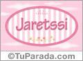 Jaretssi, nombre de bebé de niña