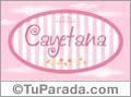 Cayetana, nombre de bebé de niña
