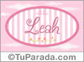 Nombre Leah de bebé, para imprimir