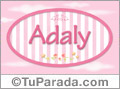 Adaly, nombre de bebé de niña
