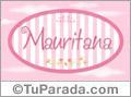 Mauritana, nombre de bebé de niña