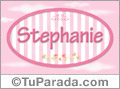Stephanie, nombre de bebé de niña