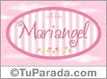 Nombre Mariangel de bebé, para imprimir