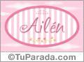 Ailén, nombre de bebé de niña