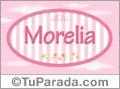 Morelia, nombre de bebé de niña