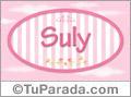 Suly, nombre de bebé de niña
