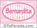 Nombre Bernardita de bebé, para imprimir