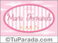 Nombre María Fernanda de bebé, para imprimir