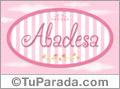 Abadesa, nombre de bebé de niña