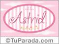 Astrid, nombre de bebé de niña