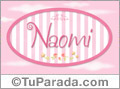 Nombre Naomi de bebé, para imprimir