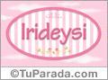 Irideysi, nombre de bebé de niña