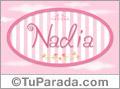 Nombre Nadia de bebé, para imprimir