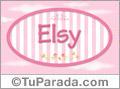 Elsy, nombre de bebé de niña