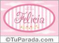 Felicia, nombre de bebé de niña