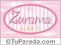 Zurama, nombre de bebé de niña