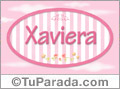 Xaviera, nombre de bebé de niña