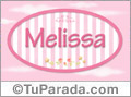 Nombre Melissa de bebé, para imprimir