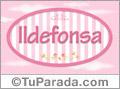Ildefonsa, nombre de bebé de niña