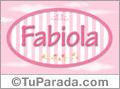 Nombre Fabiola de bebé, para imprimir