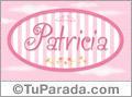 Nombre Patricia de bebé, para imprimir