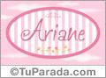 Ariane, nombre de bebé de niña