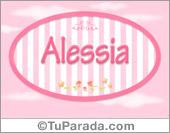 Alessia, nombre de bebé de niña