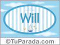 Will - Nombre decorativo