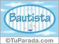 Bautista - Nombre decorativo