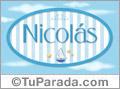 Nicolás - Nombre decorativo