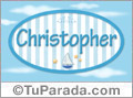 Christopher - Nombre decorativo