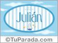 Julián - Nombre decorativo