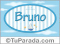 Bruno - Nombre decorativo