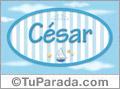 Cesar - Nombre decorativo