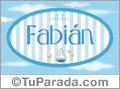 Fabian - Nombre decorativo