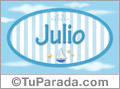 Julio - Nombre decorativo