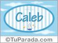 Caleb - Nombre decorativo
