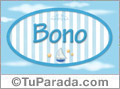 Bono - Nombre decorativo
