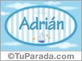 Adrián - Nombre decorativo