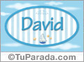 David - Nombre decorativo