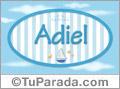 Adiel - Nombre decorativo