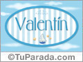 Valentín - Nombre decorativo