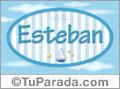 Nombre Esteban de bebé, para imprimir