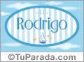 Rodrigo, nombre de bebé, nombre de niño