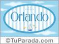 Nombre Orlando de bebé, para imprimir