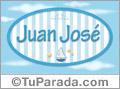 Nombre Juan José de bebé, para imprimir